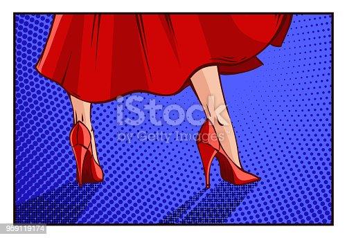 istock Vector comics pin-up woman 959119174