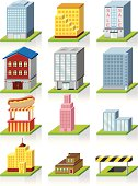 Vector Commercial Building Icon -- 3D Illustration