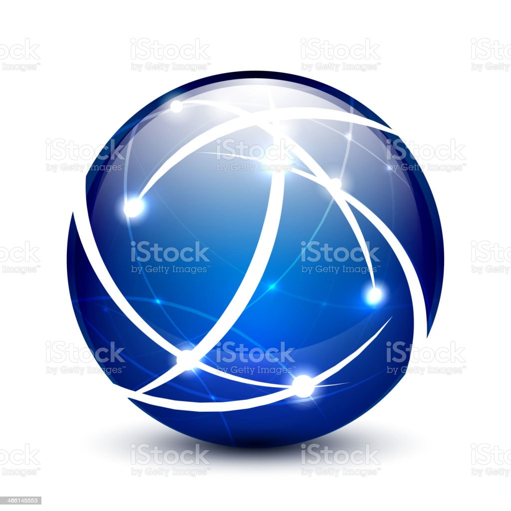 Vector communication globe icon concept vector art illustration