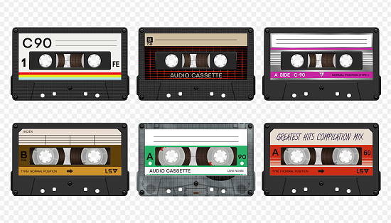Vector compact audio cassettes collection #2
