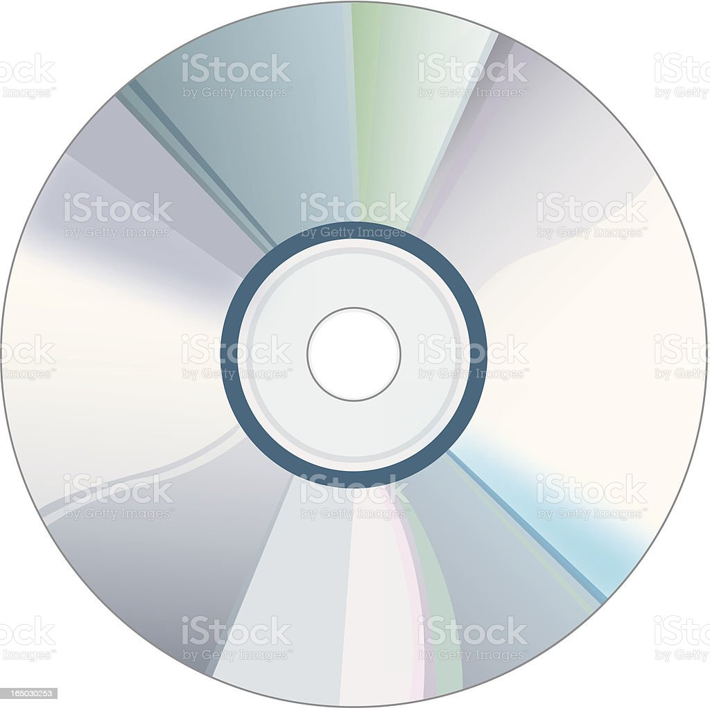 Vector Compact Disc royalty-free stock vector art