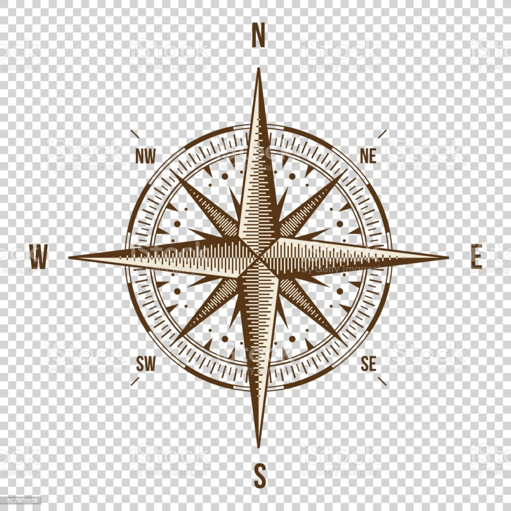Vector Compass. High Quality Illustration. Old Style. West, East, North vector art illustration