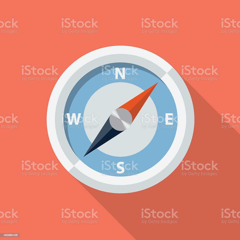 Vector compass icon vector art illustration