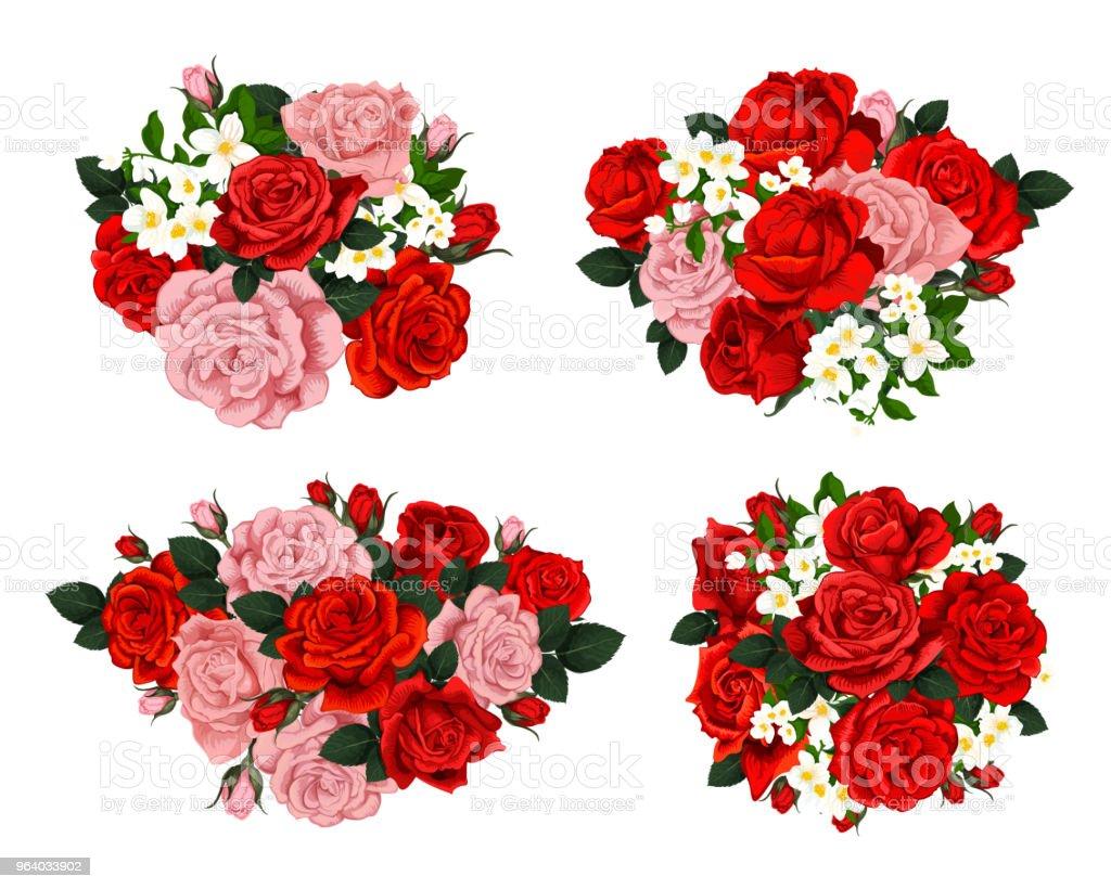 花のベクトル成分 - アーカイブ画像のロイヤリティフリーベクトルアート