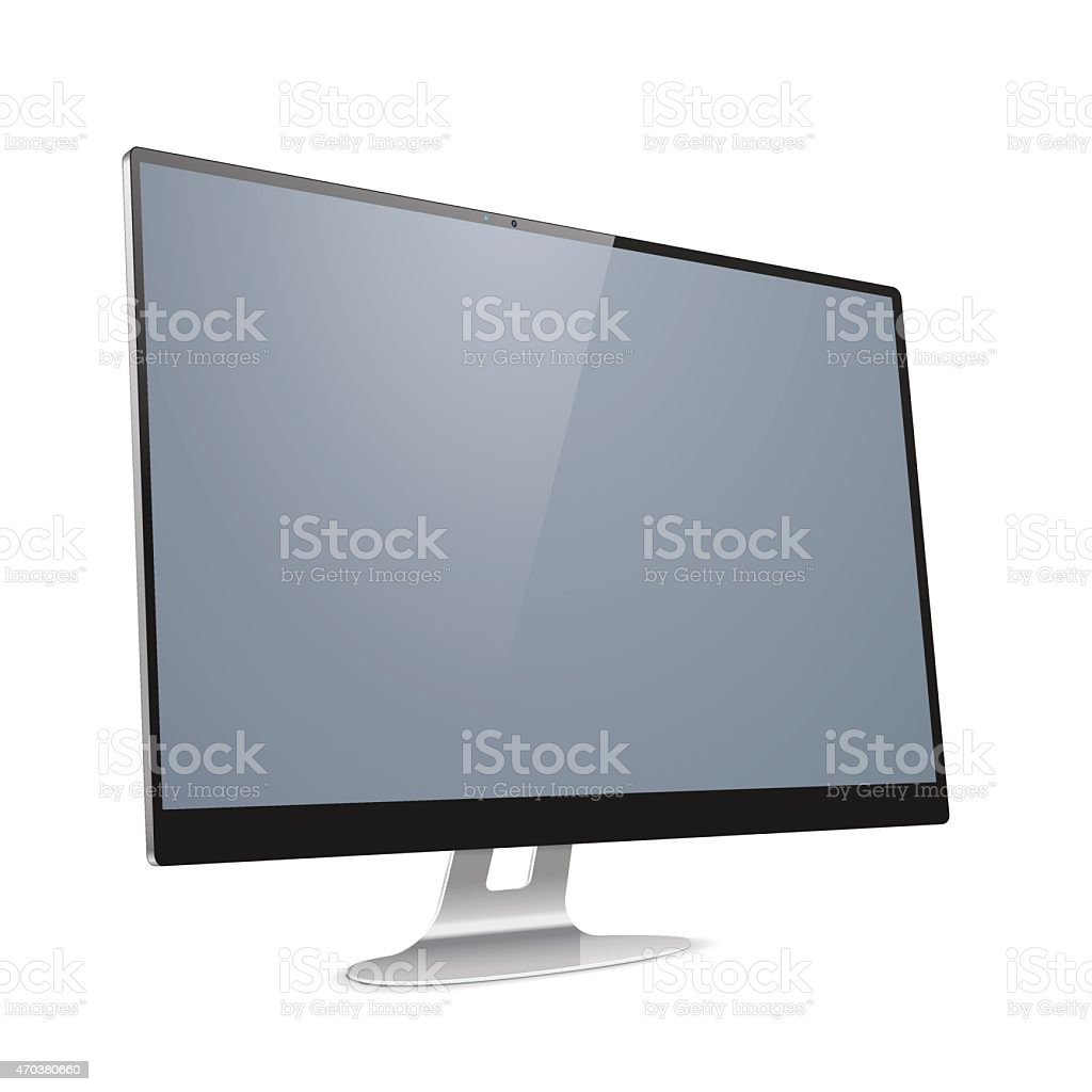 Vector Computer Display vector art illustration