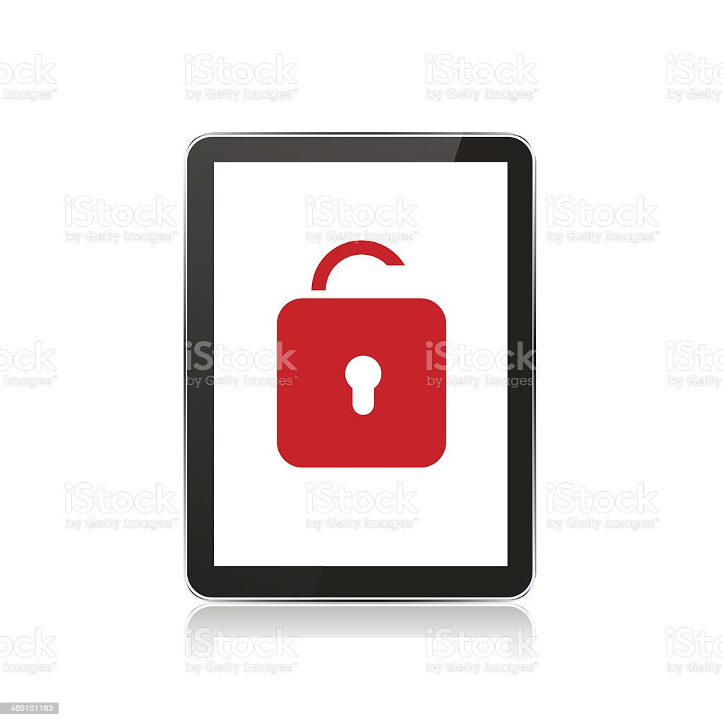 Vector computer tablet on white background. Eps10 royalty-free stock vector art