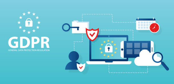 Vector concept for general data protection regulation in EU law on data privacy Vector concept for general data protection regulation in EU law on data privacy confidential stock illustrations