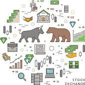 Vector concept for stock exchange