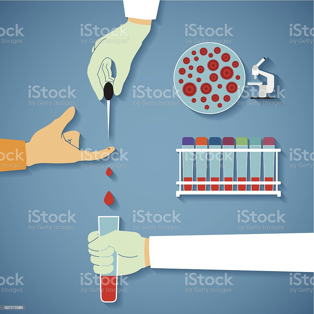 Vector concept of common blood tests vector art illustration