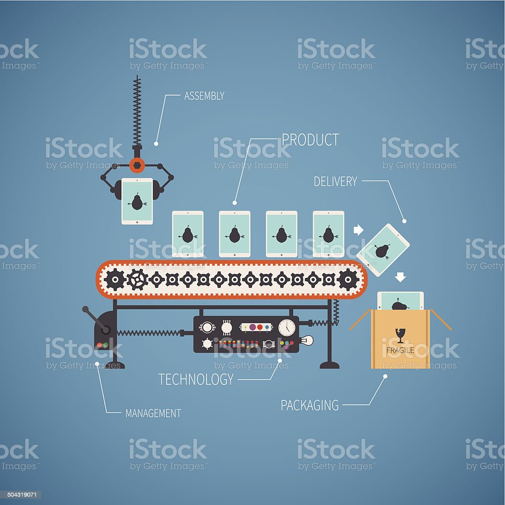 Vector concept of hi end production vector art illustration