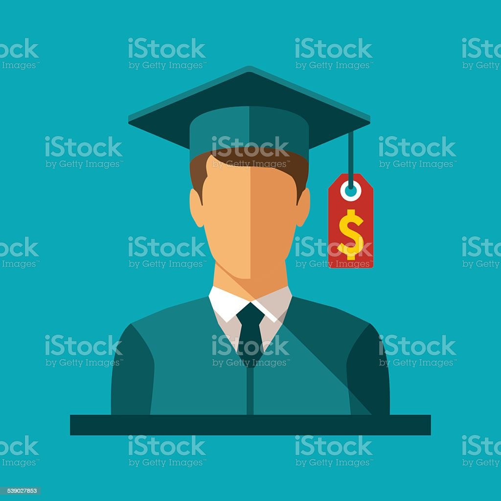 Vector concept of investment in education vector art illustration