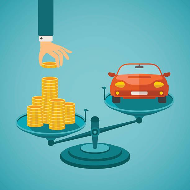 vektor-konzept der investitionen in den einzelnen verkehrsmitteln - geldstrafe stock-grafiken, -clipart, -cartoons und -symbole