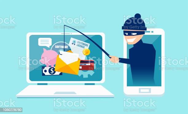 Vector Concept Of Phishing Scam Hacker Attack And Web Security - Immagini vettoriali stock e altre immagini di Accessibilità