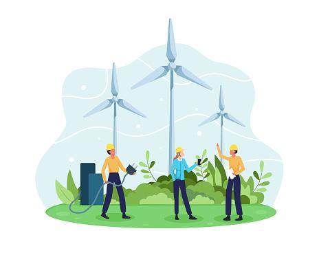 Vector concept of Renewable energy