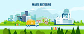 Vector concept pure nature, waste recycling management