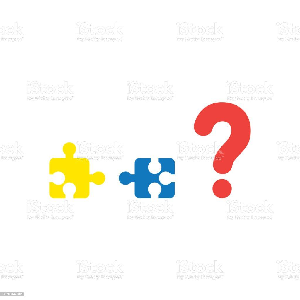 Birbirleriyle Ve Soru Işareti Beyaz Düz Tasarımı Ile Uyumsuz Olan