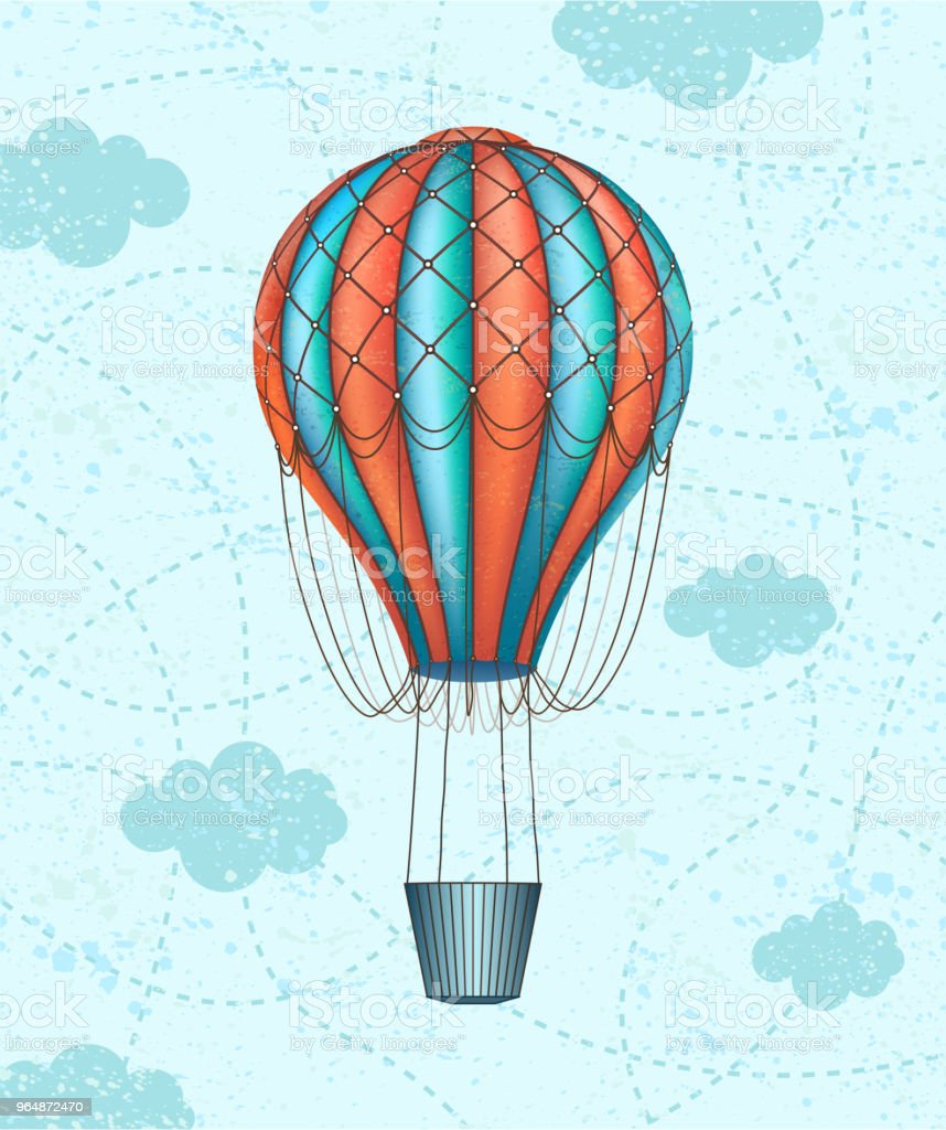 Vector conceptual art of hot air balloon. Concept of travel around the world royalty-free vector conceptual art of hot air balloon concept of travel around the world stock vector art & more images of abstract