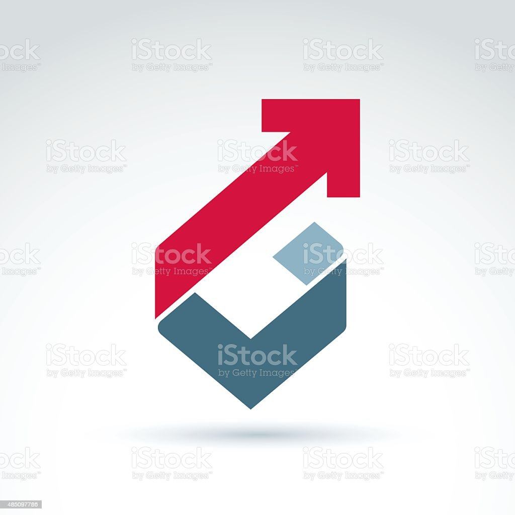 Vector conceptual design element. Abstract geometric symbol vector art illustration