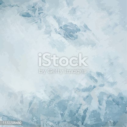 Vector concrete background. Abstract cool grey and blue square texture, a minimalist design template with copy space