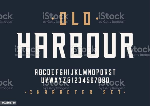 Vector condensed retro display font design alphabet character vector id922668786?b=1&k=6&m=922668786&s=612x612&h=twlihcn4sijhzubaq9nvjhngjmgpnnjskgk2r7w7s1o=