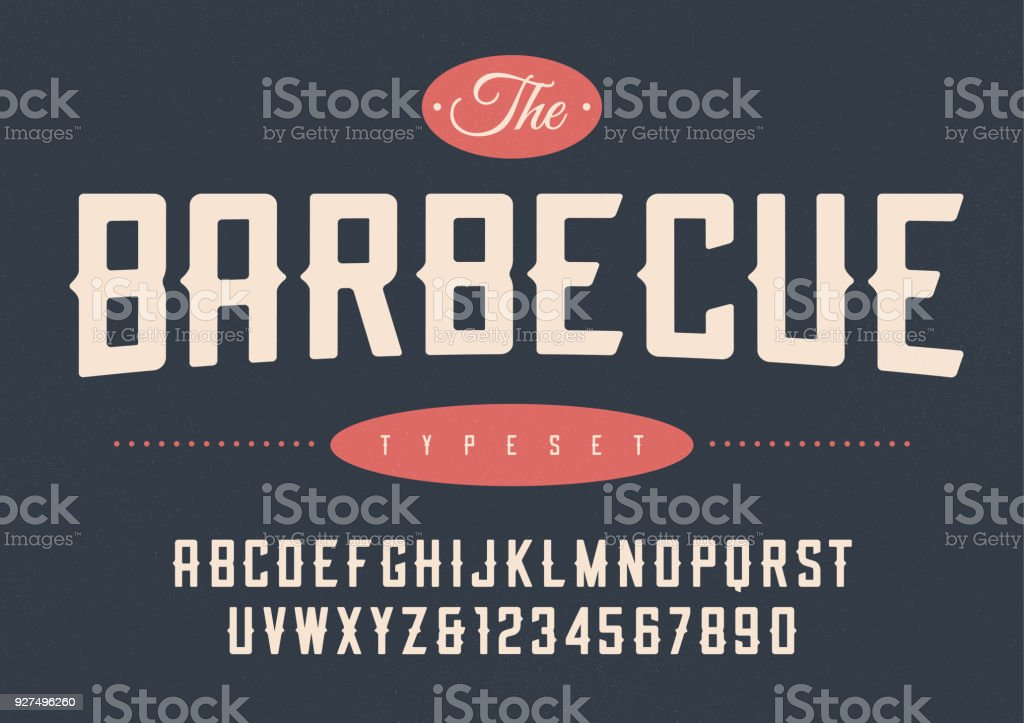 Vector verkorte retro display lettertype ontwerp, alfabet, teken​​vectorkunst illustratie