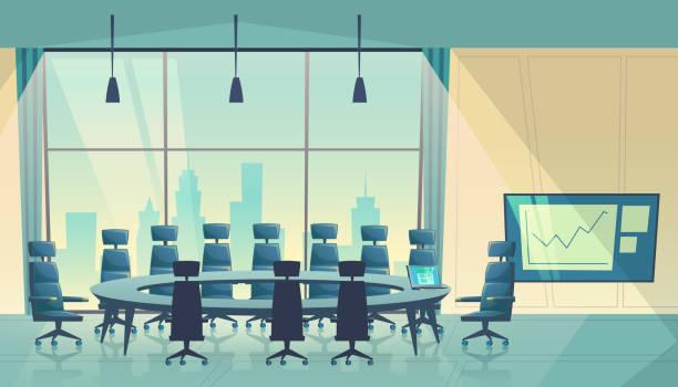 ベクトル漫画会議室ビジネス会館 - 会議室点のイラスト素材/クリップアート素材/マンガ素材/アイコン素材