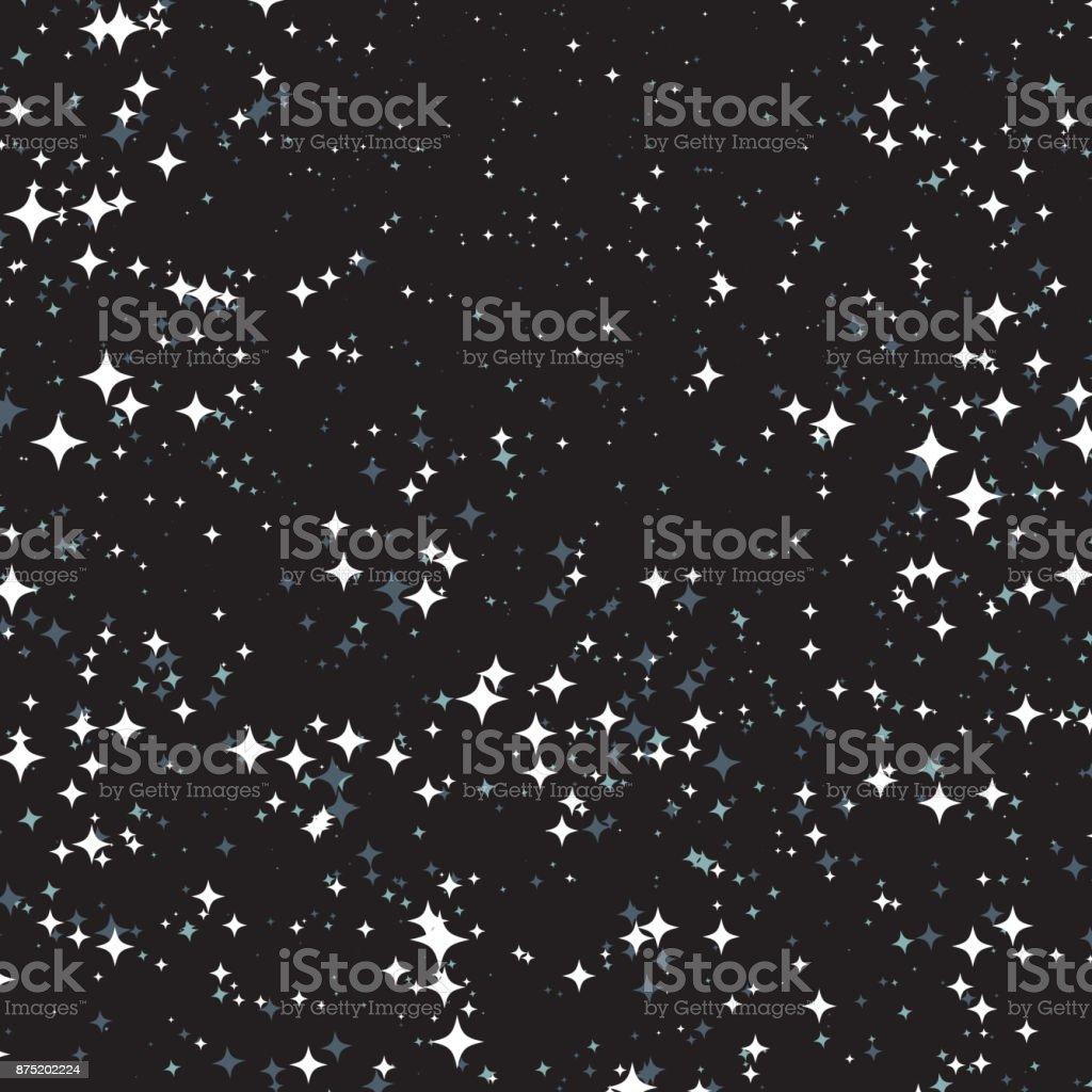 Vector Confetti Effect on Dark Background vector art illustration
