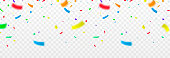 istock Vector confetti png. Multicolored confetti falls from the sky. confetti, serpentine, tinsel on a transparent background. Holiday, birthday. 1312372411
