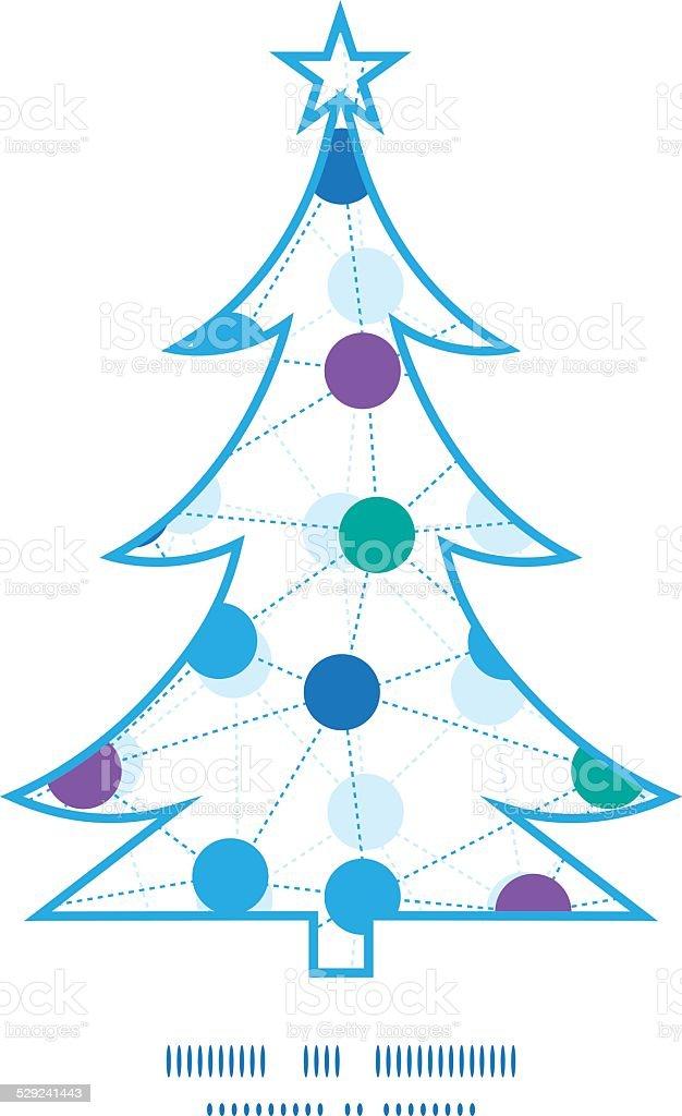 Ilustración de Árbol De Navidad De Vector De Puntos De Contacto ...