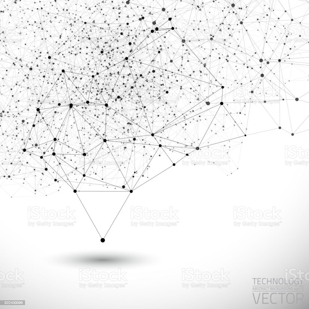 Vector connection structure background vector art illustration