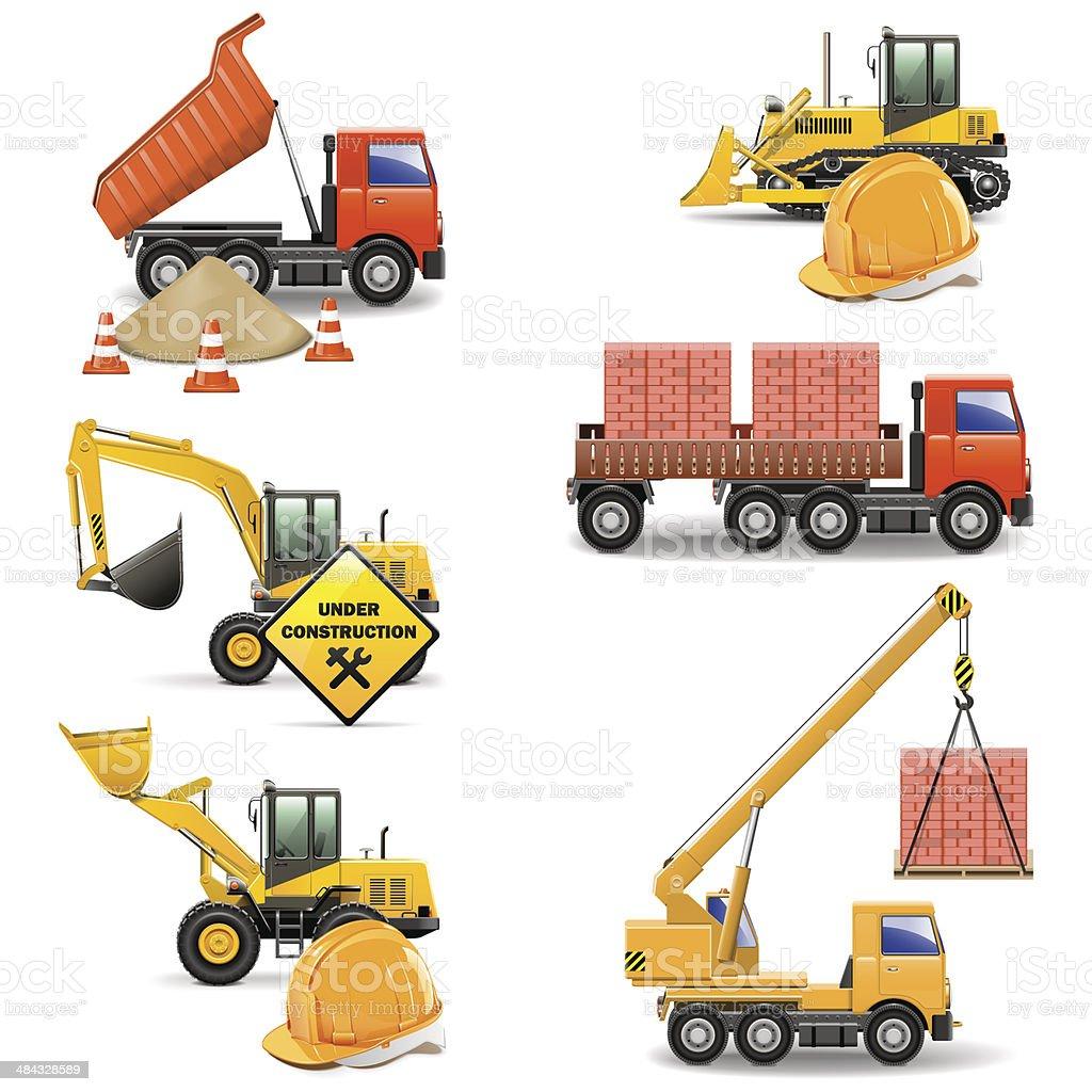 Vector Construction Machines Set 4 vector art illustration