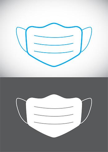 Vector Coronavirus Concept Design. Protective Face Mask.