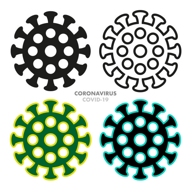 vector coronovirus icon set - covid 19 stock illustrations