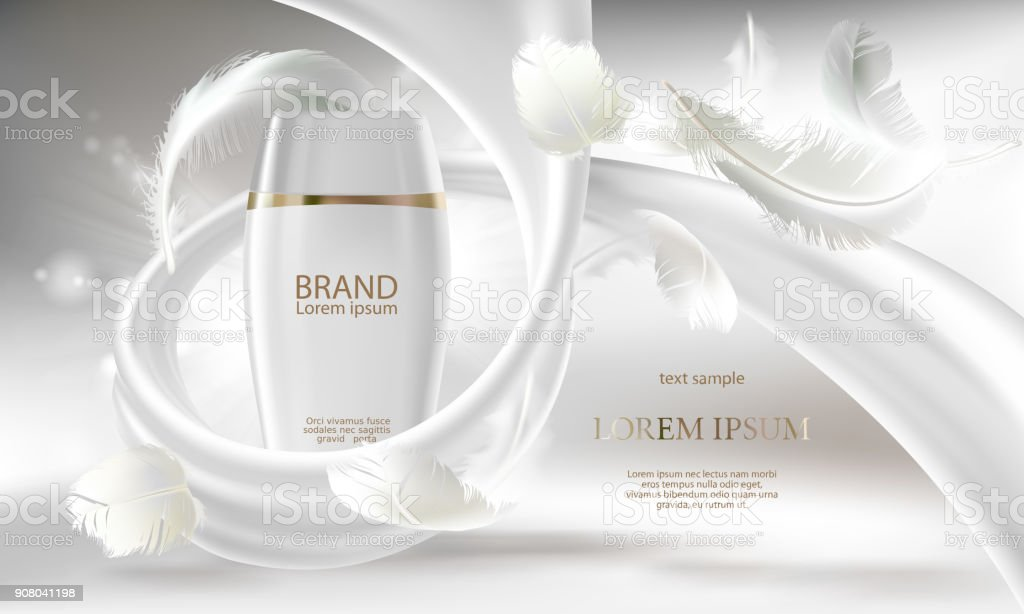 Vector cosmetic banner for promotion your brand vector art illustration