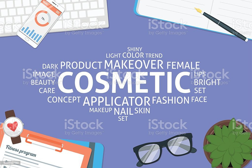 vector cosmetic concept,template vector art illustration
