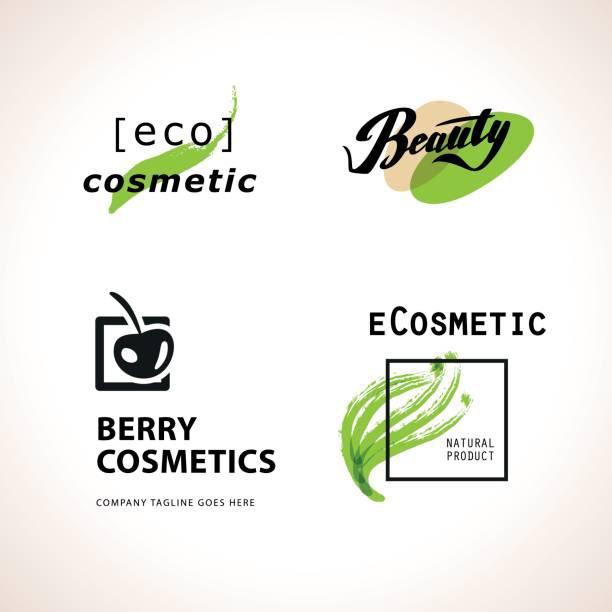 vektor kosmetische insignien isoliert auf weißem hintergrund. - pflanzenhaar stock-grafiken, -clipart, -cartoons und -symbole