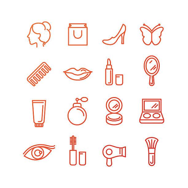 ベクトル化粧品やビューティーアイコン - エステ点のイラスト素材/クリップアート素材/マンガ素材/アイコン素材