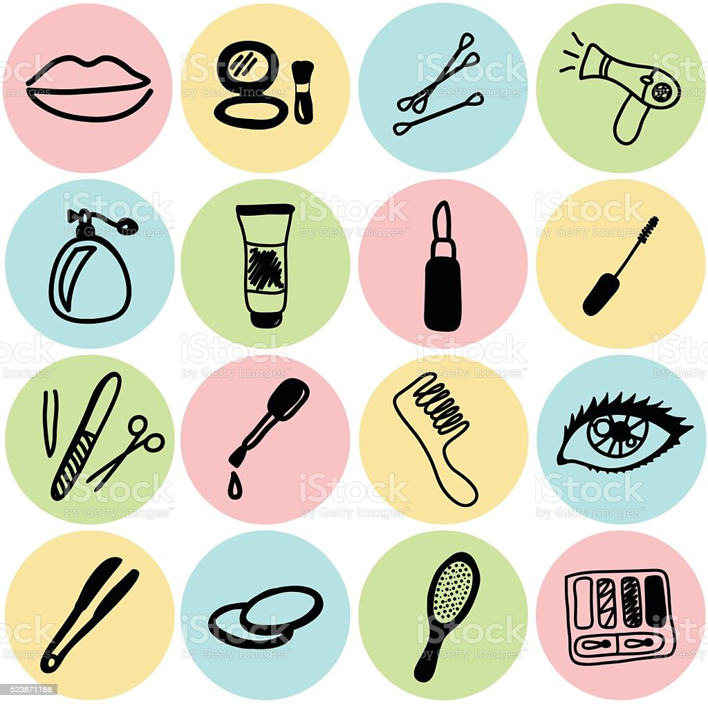 vector cosmetics and beauty icons stock vector art amp more