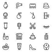 Vector cosmetics and beauty icons , vector illustration