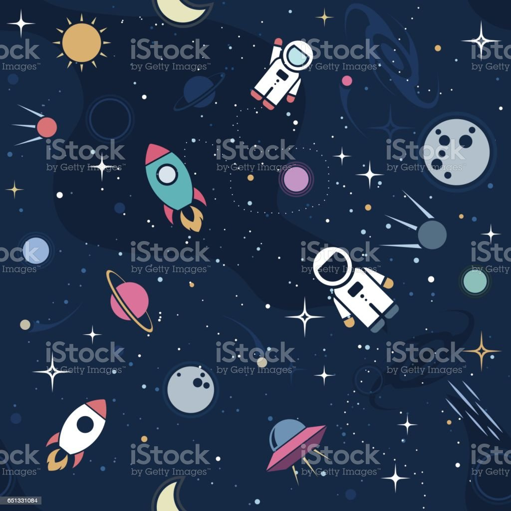 Vector cosmos background design vector art illustration