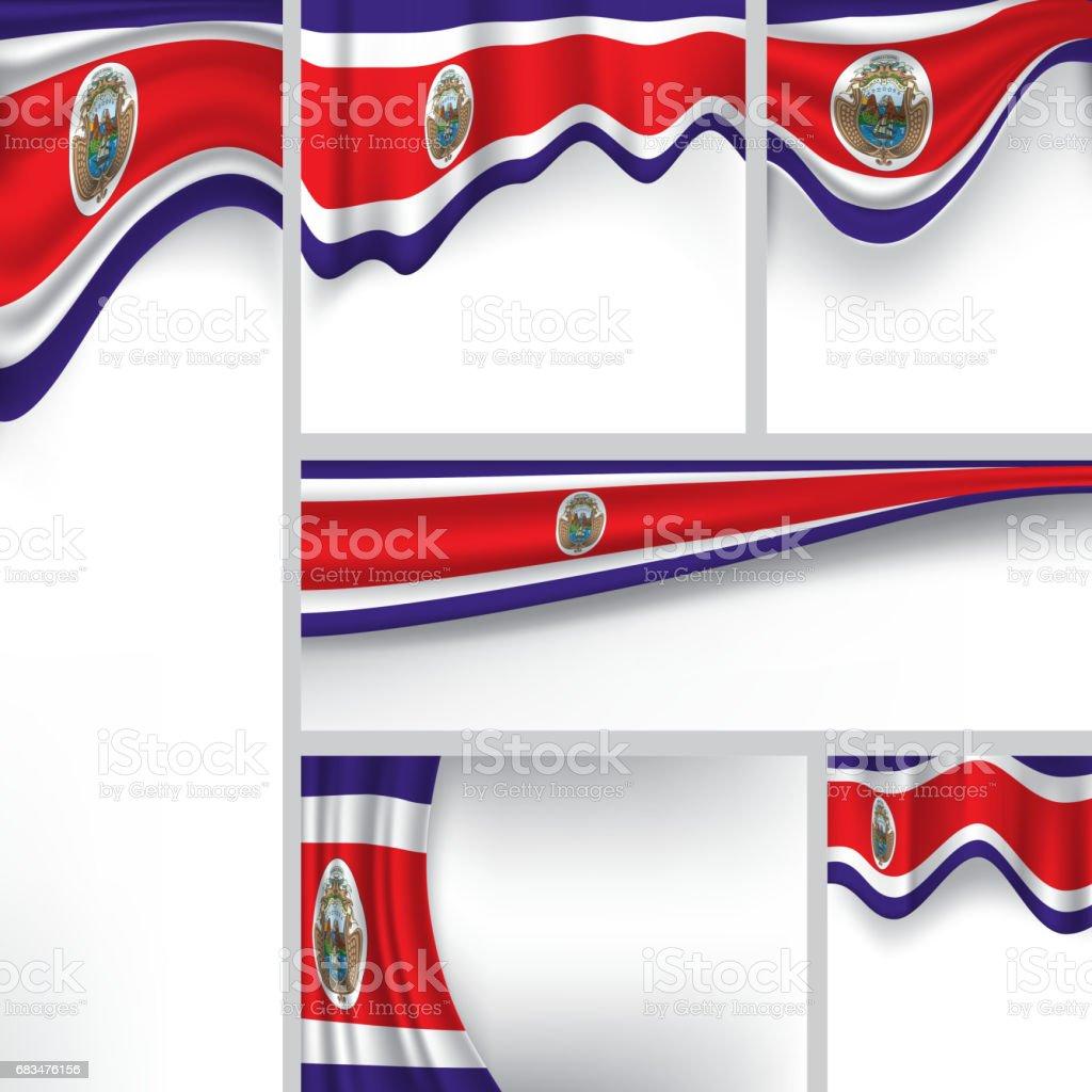Vector bandera de Costa Rica, Costa Rica colores (Vector Art) - ilustración de arte vectorial