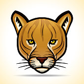 Vector cougarr head graphic design