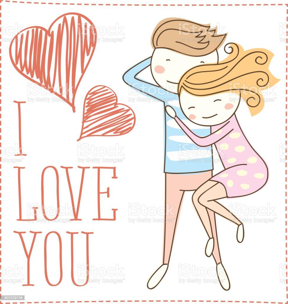 Ilustracion De Vector De Otono En Amor Pareja Y Mas Banco De