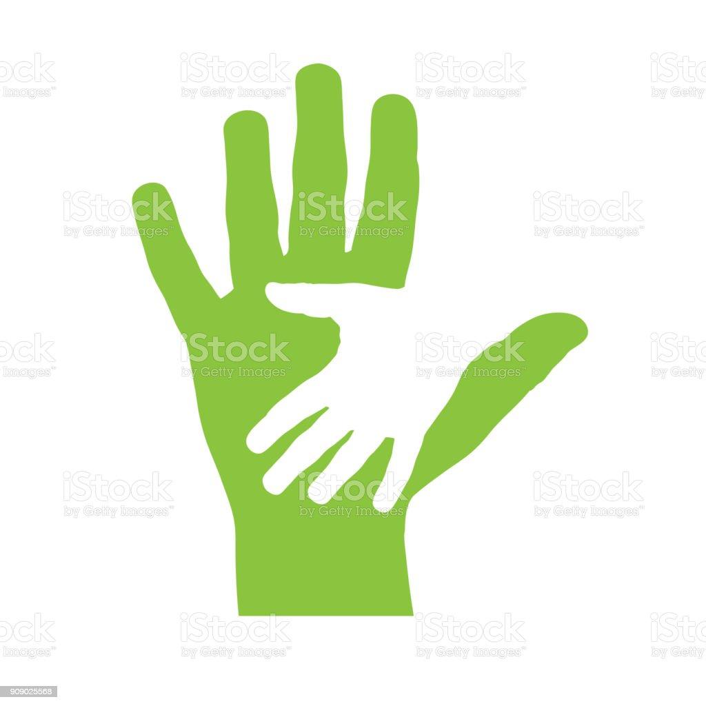 Deux mains de vecteur de la couverture - Illustration vectorielle