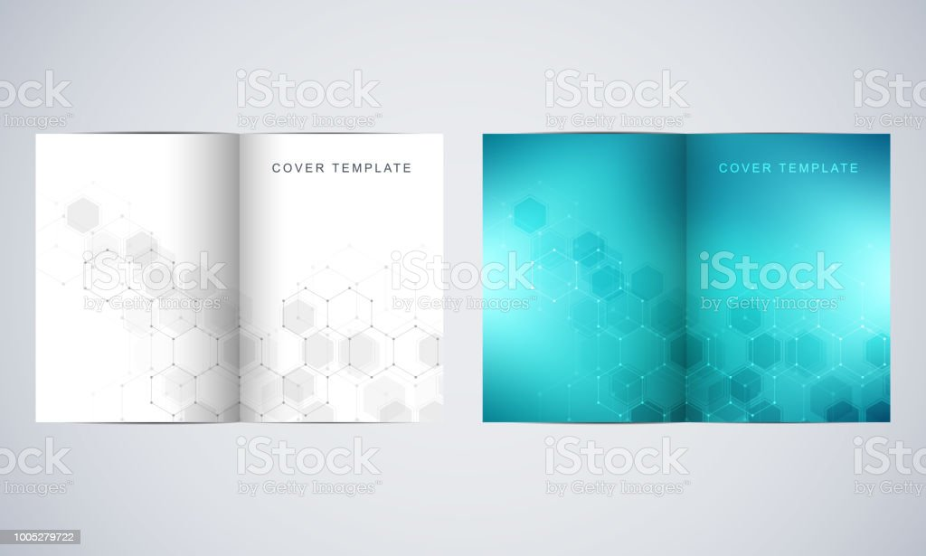Vector covers or brochure for medicine, science and digital...