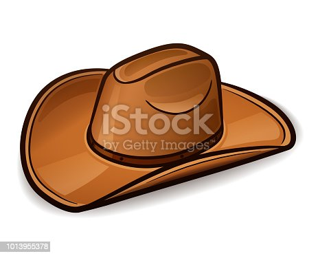 Vector illustration of cowboy hat design concept