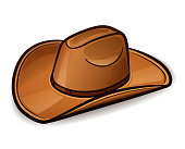 Vector cowboy hat design concept