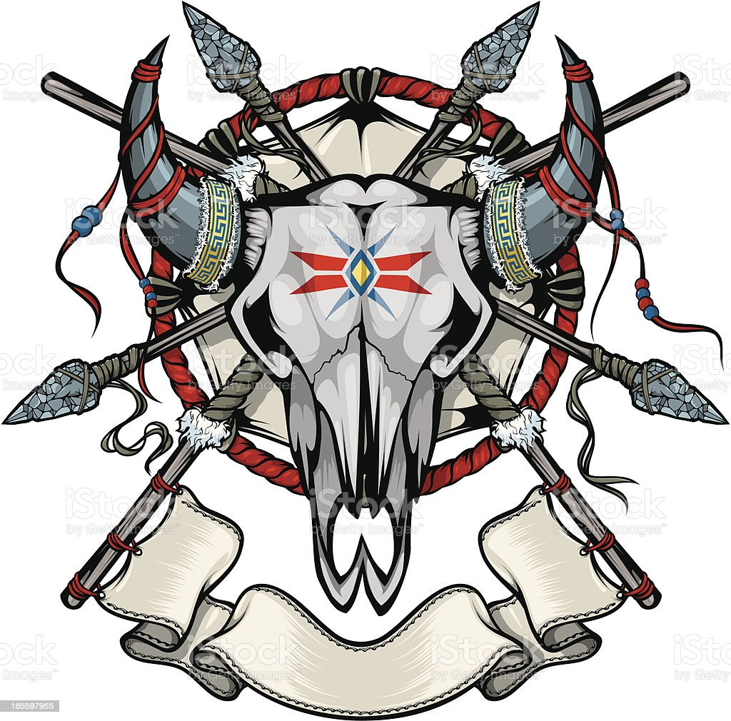 vector cowskull royalty-free stock vector art
