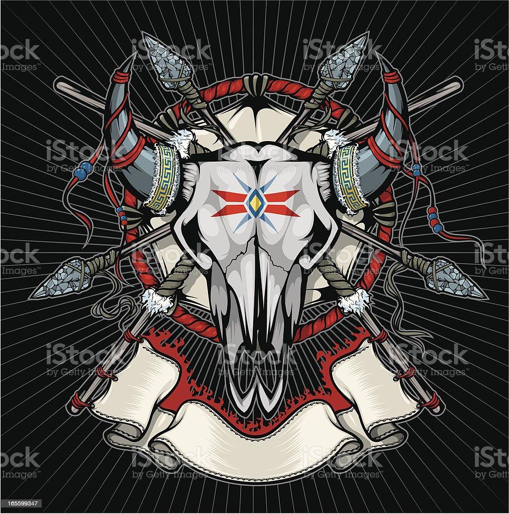 vector cowskull royalty-free stock vector art