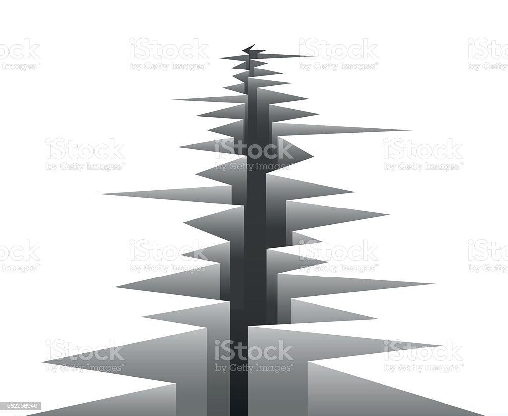 Vector crack in ground - ilustración de arte vectorial